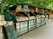 The famous Paris Bouquiniste booksellers along the Seine are loaded with literary gems (photo by Jebulon).