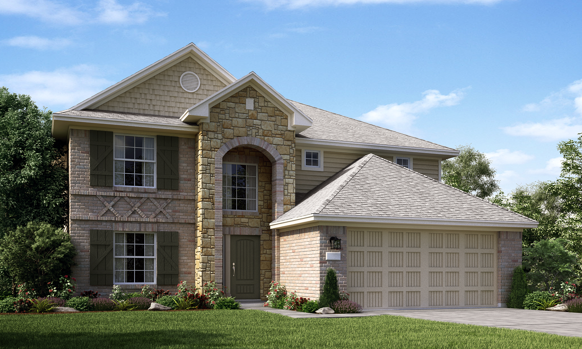 Lennar houston announces opening of new model home in for Modern model homes