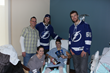 Lightning Players Visit Patients at Florida Hospital Wesley Chapel
