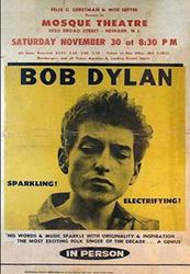 1963Bob Dylan Newark Mosque Concert Poster