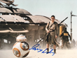 An example of an authentic autograph of Star Wars: The Force Awakens cast member Daisy Ridley.  Photo credit: PSA/DNA Authentication Services.