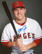 An example of an authentic autograph of star outfielder Mike Trout.  Photo credit: PSA/DNA Authentication Services.