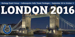 Colts London 2016 Travel Packages Available Now