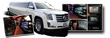 White 18 Passenger Super Stretch Limo - Cadillac Escalade Photo