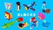 Tayasui Blocks Builds with 3D pixels on iOS