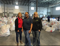 Employees stand ready to help at the Salvation Army Angel Tree pickup center