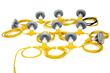 125 Watt Temporary LED String Light Set Equipped with 25 Watt Lamps