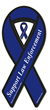 Support Law Enforcement ribbon car magnet