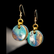 Turquoise Cloudburst Earrings by Diana Ferguson