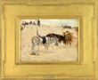 """JOHN SINGER SARGENT (American, 1856-1926) """"DONKEYS IN A DESERT, MOROCCO 1880"""""""