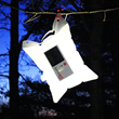 The LuminAID PackLite 16 solar inflatable light charges in sunlight and inflates to create a lightweight, waterproof lantern
