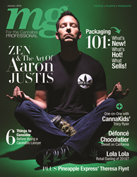 2016 January MG Magazine featuring Aaron Justis with Buds and Roses