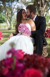 Photo of Robert Reeves Scholarship Winner Alamea Deedee Bitran on her wedding day with her new husband.