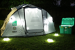 ShelterBox tent with LuminAIDs