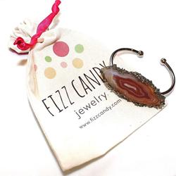 FizzCandy Rainbow Agate Cuff