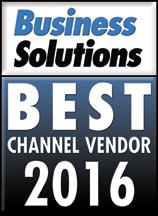 Best Channel Vendor 2016 Award Logo
