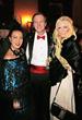 Sue Wong with socialite Jo Hilton and Dr. Mac Moretz