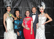 Sue Wong with SUE WONG models and socialite Mrs. Alexandrina Doheny. Photo by Sheri Determan
