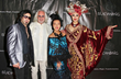 Sue Wong with rockers (left to right) Rob Math and Jawn Star with SUE WONG Model. Photo by Sheri Determan
