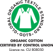 GOTS Certification for Organic Cotton Yarn Uses in all Grund Organic Cotton Rugs