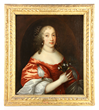 Sir Peter Lely, Dutch portrait of the Countess of Bedford, oil on canvas, in original 18th century carved gilt wood frame