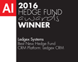 Ledgex Systems Voted Best New Hedge Fund CRM Platform: Ledgex CRM in 2016 Acquisition International Hedge Fund Awards