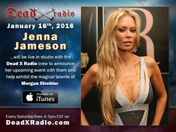 Jenna Jameson will be live in studio with Dead X Radio
