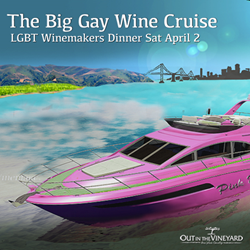 An exclusive Out In The Vineyard event, featuring 4 course, wine-paired dinner, featuring 4 of today's most exciting LGBT winemakers!