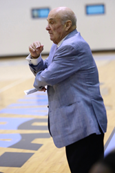 Keiser-University-Coach-Rollie-Massimino-standing-on-the-sidelines