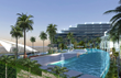 The Pointe's ocean-front hotel includes 200 guest rooms, music and entertainment venue.