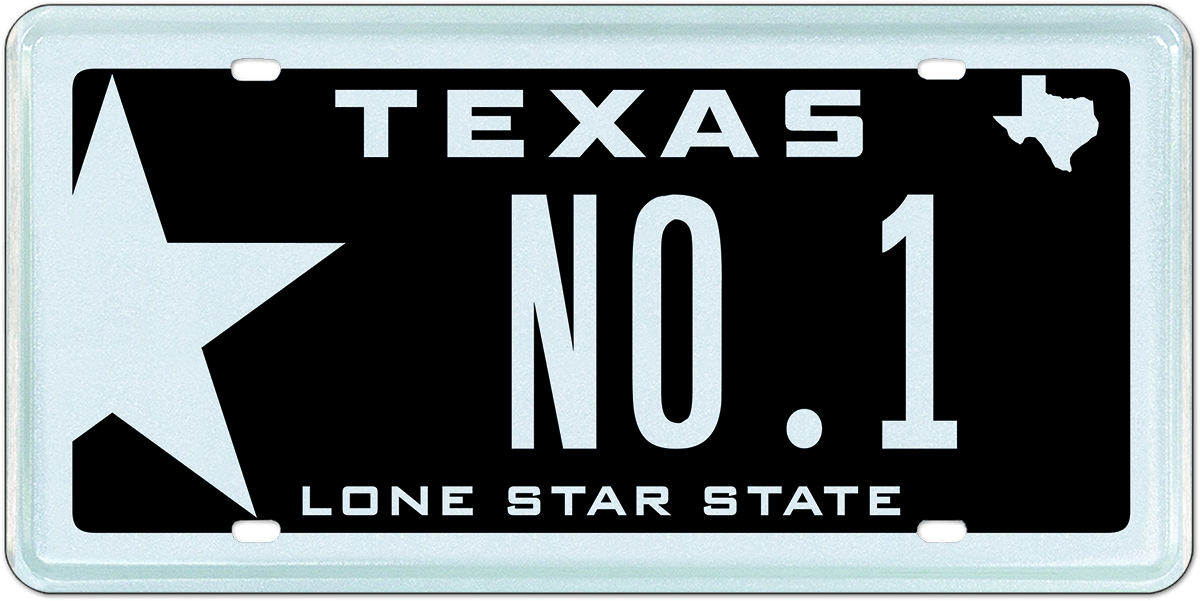My Plates Texas >> Lone Star Black Is Texas Number 1 Specialty License Plate In 2015