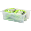 Akro-Mils Clear Nest & Stack Tote