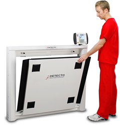 DETECTO's 7550 Fold-Up Wheelchair Scale for Clinical Weighing