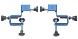 Sold in pairs, the clamps are made of steel and feature threaded bolts with knob handles on one end and nylon-capped clamping pads on the other to provide strong clamping pressure without damaging the
