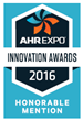 AHR 2016 Expo Innovation Award - Honorable Mention