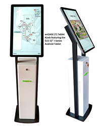 "enGAGE (T) Tablet Kiosk Enclosure with 22"" Elo I-Series Tablet"