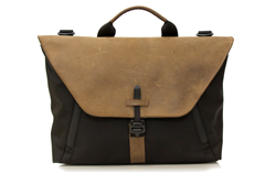 Staad Attaché—black ballistic nylon with grizzly leather flap option