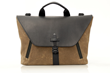 Staad Attaché—waxed canvas with black leather flap option