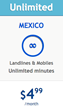 HablaMexico.com offers unlimited calls to Mexico for only $4.99/month
