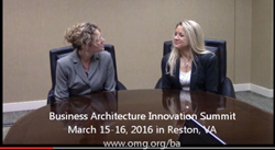 video invitation to Business Architecture Summit – March 14-15, 2016 in Reston, VA
