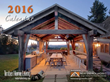 New Energy Works' 2016 calendar is a 13-month collection of homes and commercials projects; it will bring a unique timber frame to your wall throughout the year.
