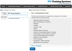 TPC Training Systems, Industrial skills training, training needs analysis, workforce training, Industrial skills gap,