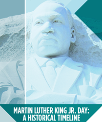 Martin Luther King Jr Historical Timeline Infographic