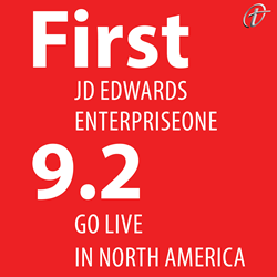 First JD Edwards E1 9.2 Go Live in North America