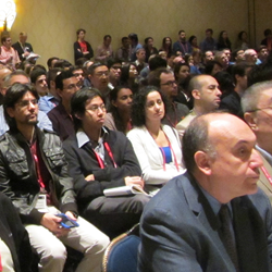 A new track on Precision Medicine will join nine well-established conferences at SPIE Medical Imaging; above an attentive audience hears a talk in 2015.