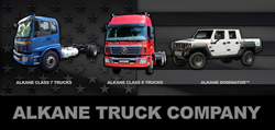 Alkane Truck Company Class 7 Cab Over, Alkane Class 8 Cab, and Over Alkane Dominator