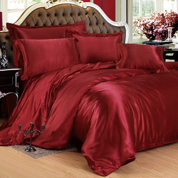Red Silk Bed Sheets