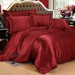 Claret silk bedding sets