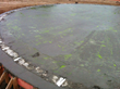 Water storage tank showing PENETRON ADMIX green dissipative green tracer.