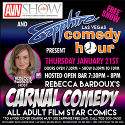 "Rebecca Bardoux's ""Carnal Comedy"" January 21, 2016 at Sapphire"